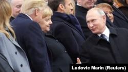 Trump və Putin son dəfə noyabrın 11-də Parisdə ayaqüstü salamlaşıblar