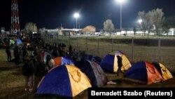 სერბეთი: მიგრანტების ბანაკი ბოსნია-ჰერცეგოვინის საზღვართან. 2020 წ. 6 თებერვალი.