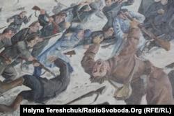 Фрагмент картини «Бій під Крутами» Олександра Климка