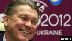 Главный тренер сборной Украины Олег Блохин