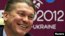 Украина құрама командасының бас бапкері Олег Блохин. Киев, 21 сәуір 2011 жыл