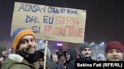 La protestul de noaptea trecută la București