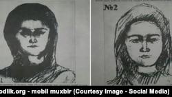 """Появившиеся в Ферганской области объявления с фотороботами разыскиваемых женщин, которых называют """"опасными""""."""