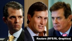 Donald Trump Jr. (left), Jared Kushner (center), and Paul Manafort
