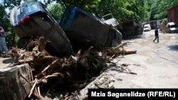 Վրաստան - Ջրհեղեղի հետևանքները Թբիլիսիում, 14-ը հունիսի, 2015թ.
