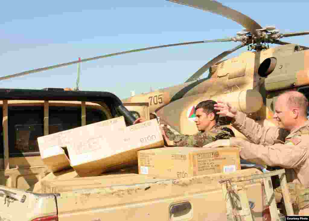 The Afghan Air Force and ISAF are supporting the distribution drive and help with the transport of the radios to remote and isolated areas across the country.
