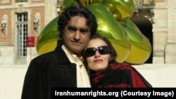 Karan Vafadari, Iranian-American Zoroastrian and his wife Afari Nisari.