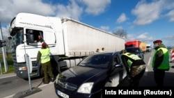 Provjere na granici između Litvanije i Latvije