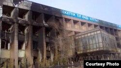 Следы недавних беспорядков до сих пор видны в Жанаозене