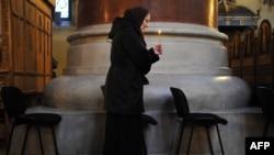 Molitva u crkvi, Beograd