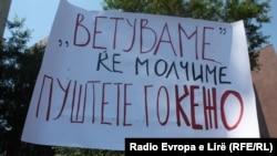 Protesta për lirimin e gazetarit Kezharovski - foto arkivi