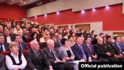 На отчетной встрече начальника департамента полиции Актюбинской области. Актобе, 14 января 2020 года.