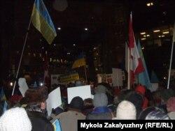Акция протеста у консульства России в Торонто