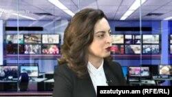 Депутат фракции «Елк» Лена Назарян в студии Азатутюн ТВ (архив)