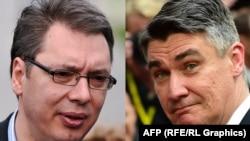 Aleksanadar Vučić i Zoran Milanović