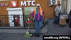Орусиядагы өзбек мигранты
