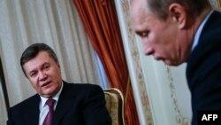 Віктар Януковіч і Ўладзімер Пуцін 22 кастрычніка 2013