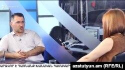 Зампред «Наследия» Армен Мартиросян с студии «Азатутюн ТВ», Ереван, 27 июня 2017 г.