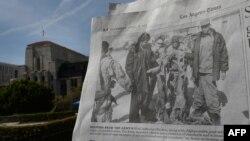 """""""Лос Анжелес Таймс"""" гезитине чыккан сүрөттөрдүн бири."""