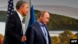 Обама и Путин на саммите G8