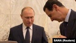 Одна из последних встреч Владимира Путина и Башара Асада в Дамаске. Визит в мечеть времен династии Омейядов. 7 января 2020 года