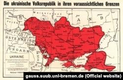 Немецкая карта Украины (1918)