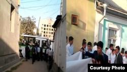 Акция протеста у дома Рахматулло Раджаба, сентябрь 2016