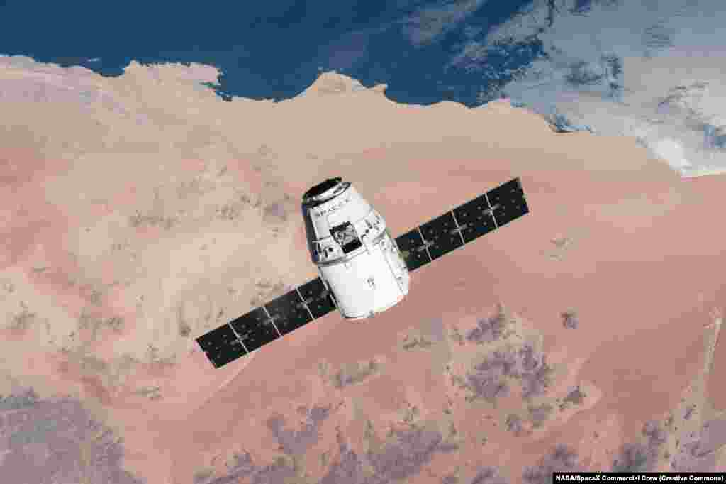 The Crew Dragon is a major update of SpaceX's first Dragon capsule (pictured), which has been flying unmanned resupply missions to the ISS since 2012.