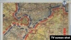Vojna mapa Sarajeva prikazana u sudnici