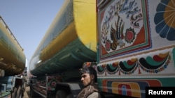 Reports say the trucks that were destroyed had been transporting fuel from Uzbekistan. (file photo)