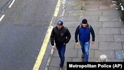 Люди, объявленные британским следствием подозреваемыми в отравлении Скрипалей, на улице Солсбери