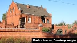 Развалины на окраине Грозного