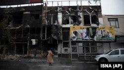 تصویری از روزهای پس از اعتراضهای اخیر در ایران در شهر کرج