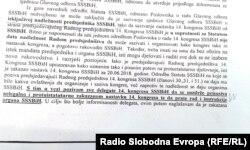 Dio iz saopštenja SSS BiH