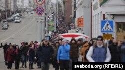 «Марш недармаедаў» у Віцебску, 26 лютага