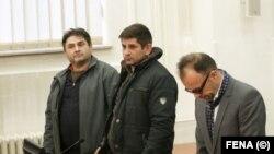 Bekrija (lijevo) i Ljubo (u sredini) Seferović prilikom izricanja prvostepene presude, 13. januar 2020.