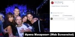 Андрей Филонов и Александр Лиев с женами и украинским шоу-мэном Александром Педаном в 2013 году
