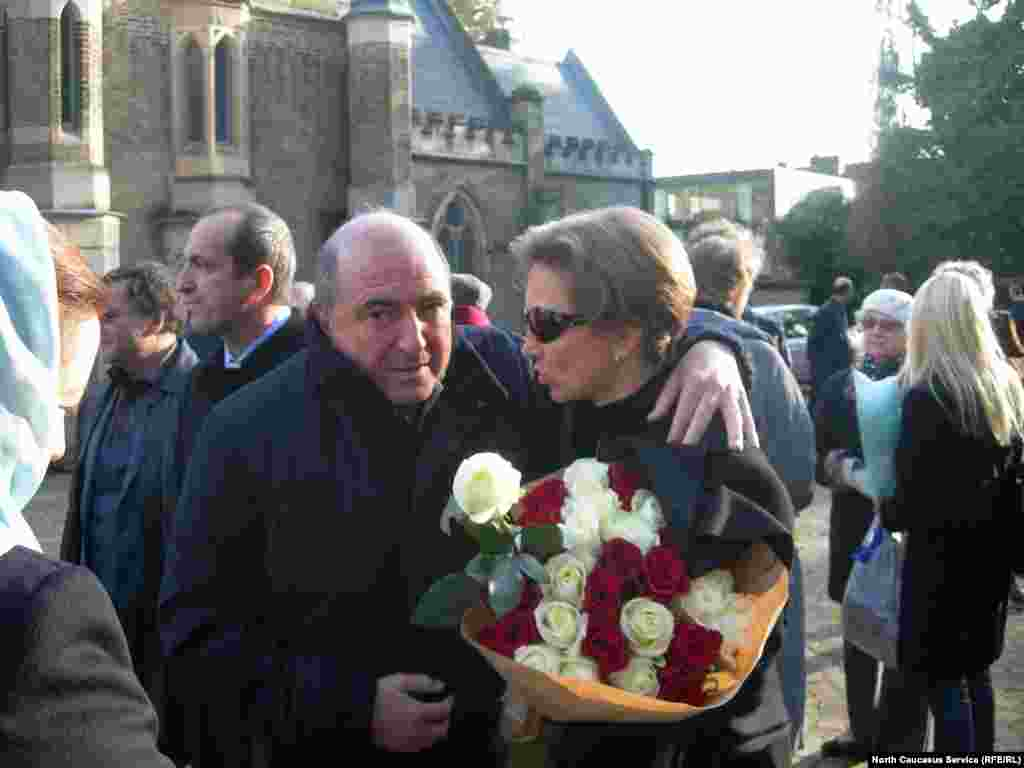 Boris Berezovsky (left) with Marina Litvinenko, the widow of Aleksandr Litvinenko, at an event to mark the first anniversary of the death of her husband. Berezovsky always blamed the former security agent's death by poisoning in 2006 on the Kremlin.