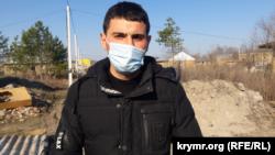 Изет, житель «поляны протеста» в Симферополе вблизи улицы генерала Васильева