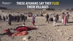 Afghan Civilians Flee As Taliban Clashes With IS Militants