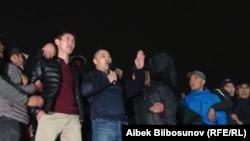 Садыр Жапаров аянтта. Бишкек. 6-октябрь, 2020-жыл.