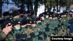 Cadeți de la colegiul militar Suvorov