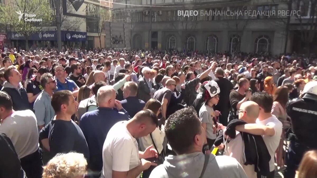 Сербия: резиденцию президента окружили пикетчики – видео