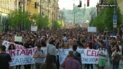 Thousands March In Hungary To Support Soros-Founded University