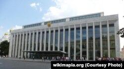 Крамлёўскі палац зьездаў. Здымак з сайту wikimapia.org