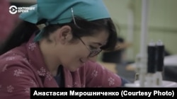 Ганна Пячыніна. Кадар зь фільму «Дэбют»