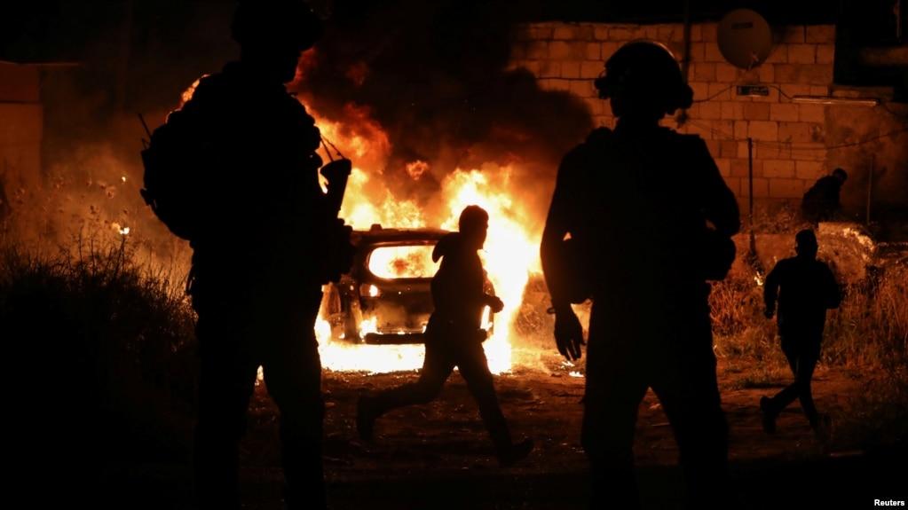 منطقه شیخ جراح در شرق بیت المقدس، پنجشنبه شب