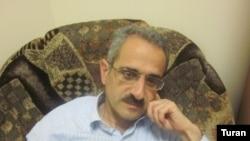"""""""Tolishi sado"""" gazetasi bosh muharriri Hilol Mammadov."""