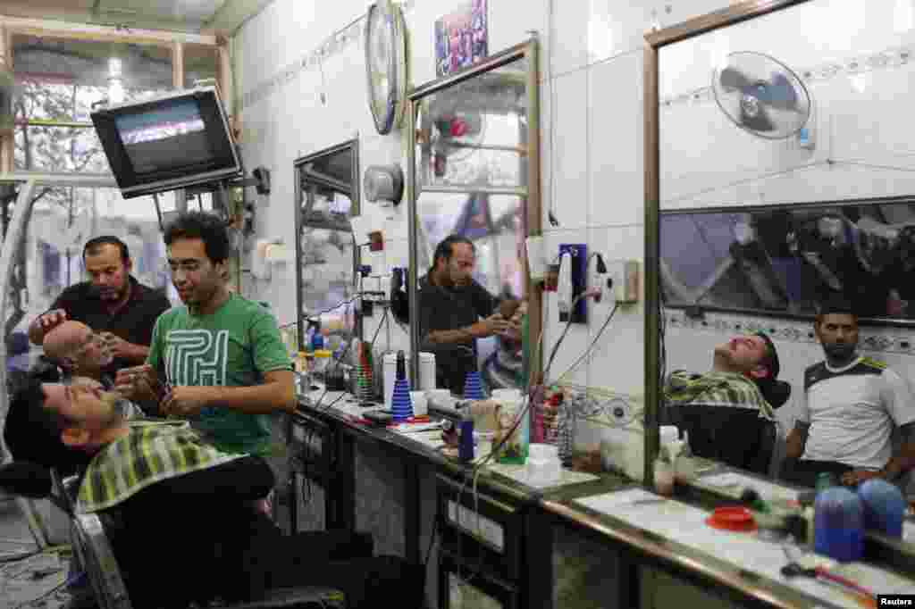 Barbers offer haircuts and shaves for their customers.