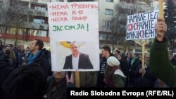 Архивска фотографија: Протест против плаќањето придонеси за хонорарите во Скопје.